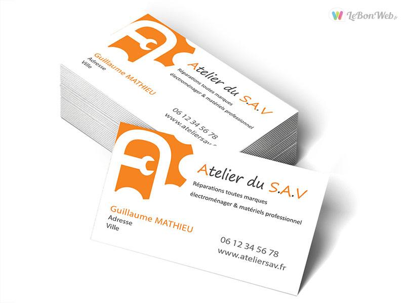 Logo Et Carte De Visite Lentreprise Atelier Du SAV Brignon